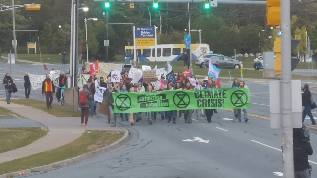 Police arrest 10 people in Vancouver who joined Extinction Rebellion protest