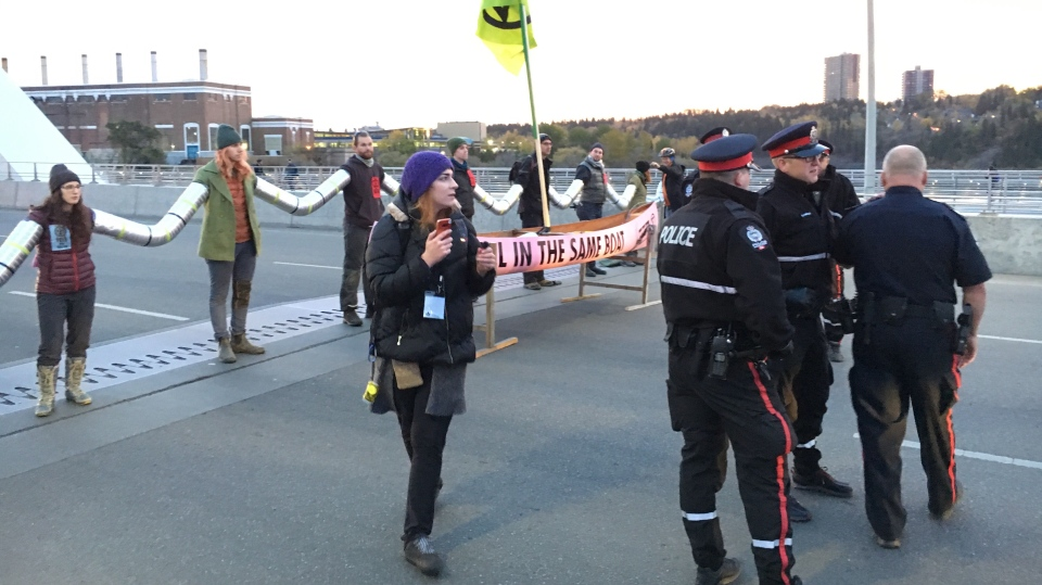 Walterdale Bridge protest