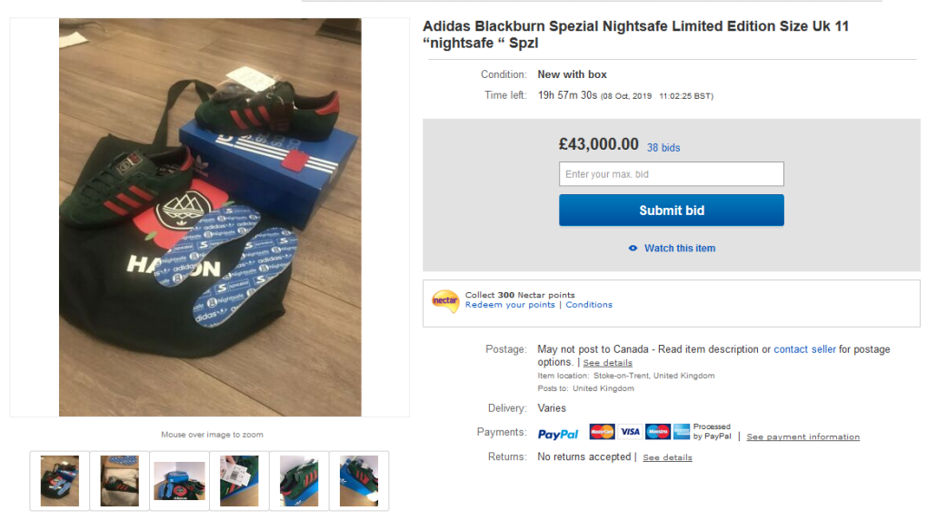 Online Bids For Limited Edition Adidas Sneakers Top 70 500 Ctv News