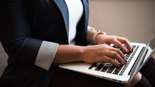 Businesswoman laptop
