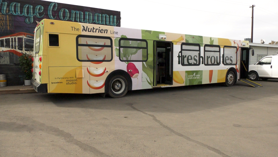 The mobile grocery service, Fresh Routes, brings affordable produce to communities in need.