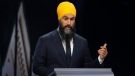 NDP leader Jagmeet Singh speaks during the Federal leaders debate in Gatineau, Que. on Monday, October 7, 2019. THE CANADIAN PRESS/Sean Kilpatrick
