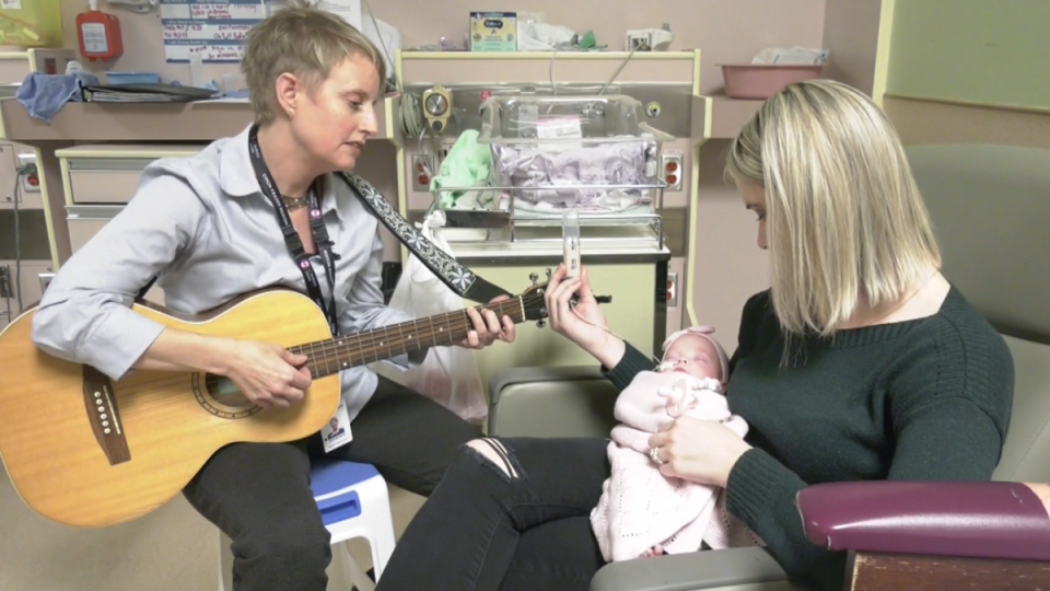 Music therapy for newborns