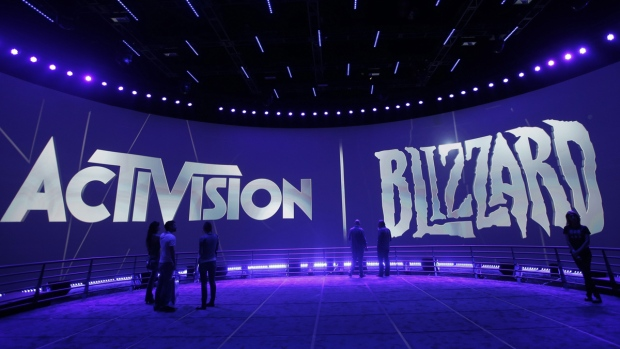 The Activision Blizzard Booth during the Electronic Entertainment Expo in Los Angeles, on June 13, 2013. (Jae C. Hong / AP)