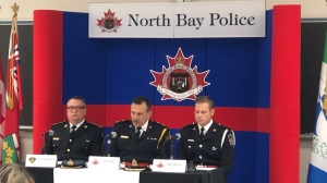 North Bay police hold news conference October 8, 2019 to release new information in the disappearance of Luke Joly-Durocher. (Ian Campbell/CTV Northern Ontario)