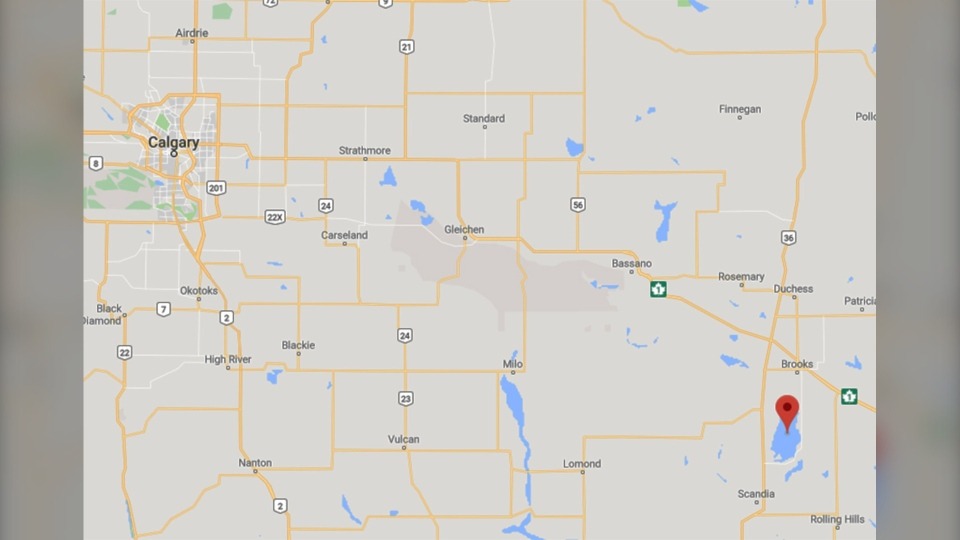 A Calgary fisherman was reported missing on Saturday, October 5 after failing to return from Lake Newell (GoogleMaps)