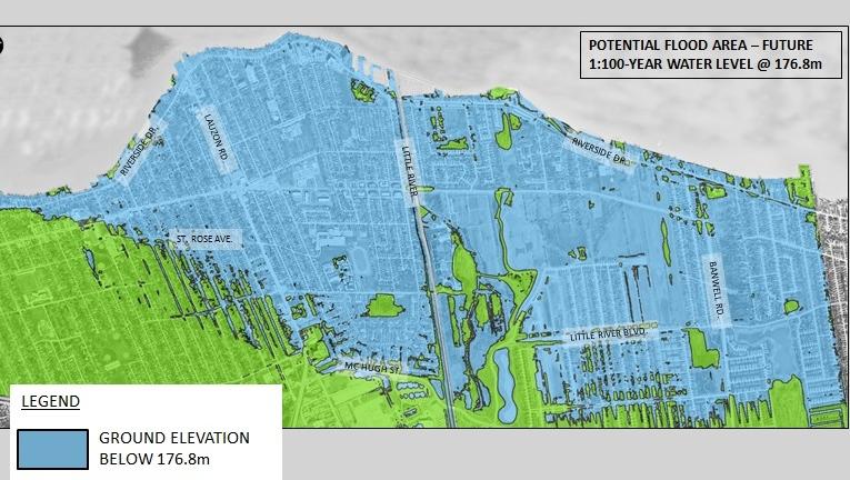 East Windsor flood plane map (Landmark Engineers/City of Windsor)