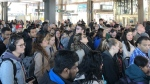 Ottawa's top transit boss says a door jam at the uOttawa transit station triggered a long delay for service after 8 a.m. Tuesday morning. (Twitter @kath_sheridan)