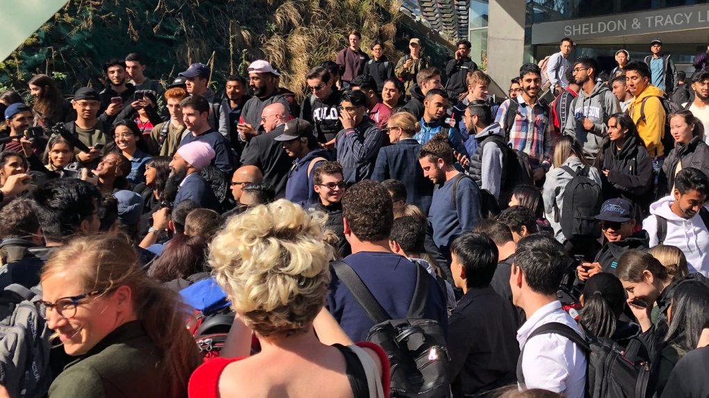 Singh swarmed by cheering students at Ryerson University day after debate