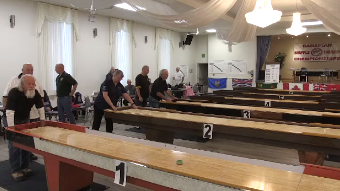 Shuffleboard teams from across the country were in Kitchener for the national championships.