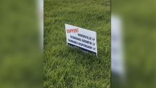 Niverville Plebiscite sign