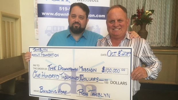 Downtown Mission Donation