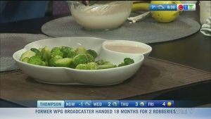 Nicole makes garlic brussel sprouts with aioli