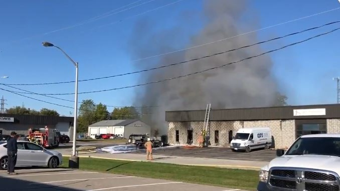 Chatham-Kent firefighters battle blaze at commercial building