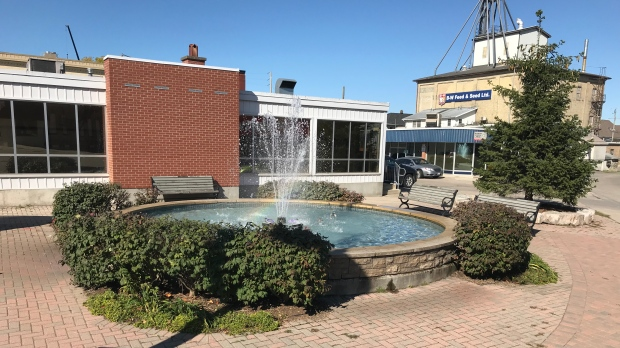 The downtown New Hamburg fountain