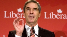 Liberal Leader Michael Ignatieff delivers a speech at Liberal caucus during their summer retreat in Sudbury, Ont., on Tuesday, Sept. 1, 2009. (Sean Kilpatrick / THE CANADIAN PRESS)