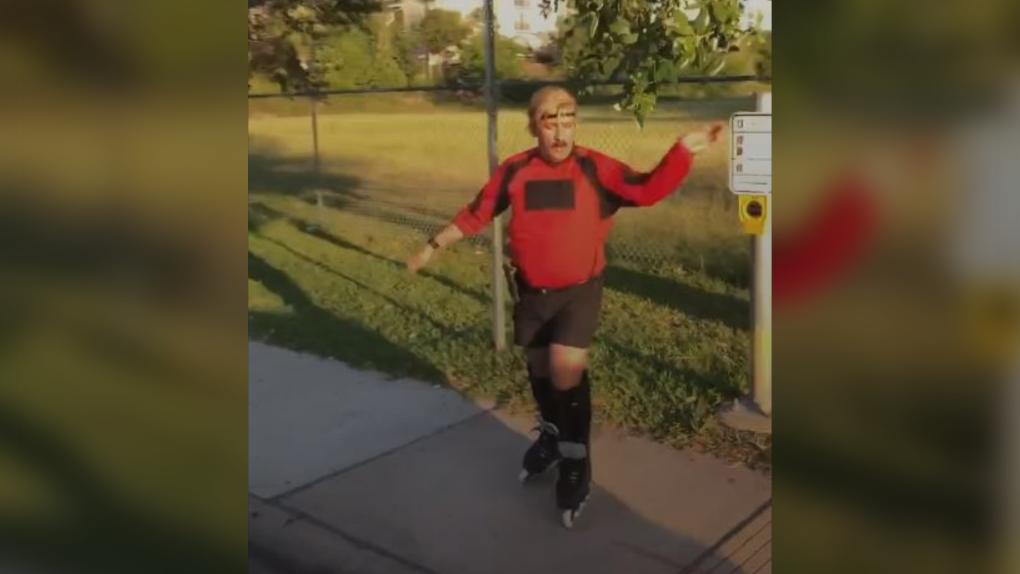 TikTok's dancing rollerblader Juan Carlos has gone viral before