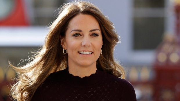 Kate, The Duchess of Cambridge arrives at The Natural History Museum in London, Wednesday, Oct. 9, 2019. (AP Photo/Kirsty Wigglesworth, pool