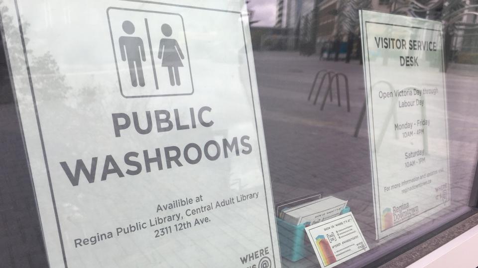 The City of Regina is set to test stand-alone public washrooms in Regina's downtown. (Cole Davenport / CTV Regina)