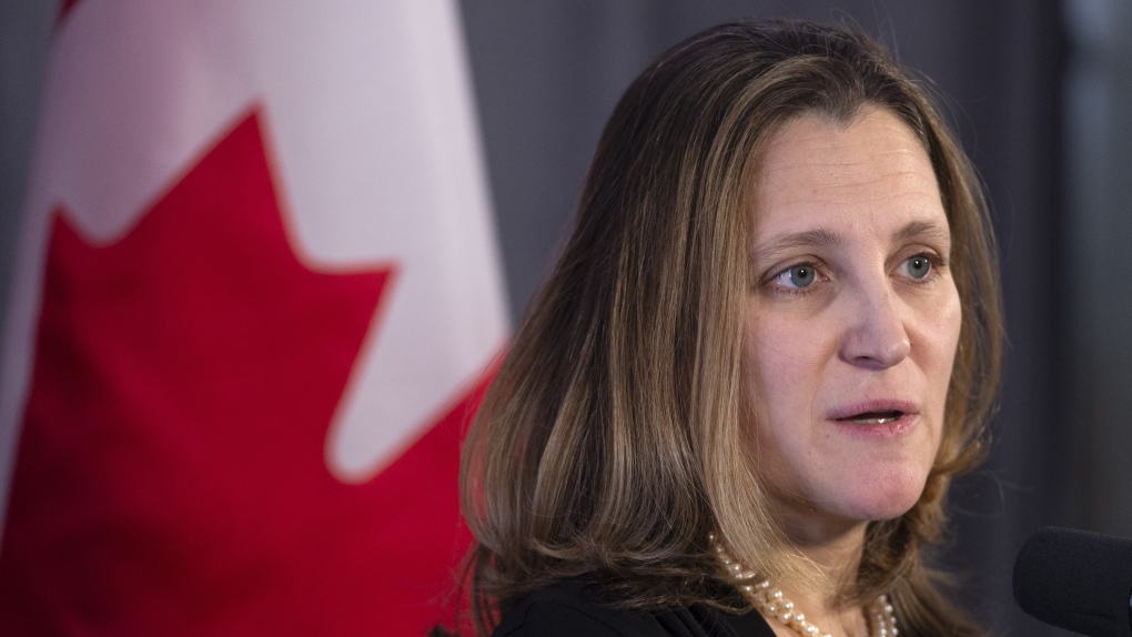 Liberal heavyweight Chrystia Freeland campaigns for Edmonton candidates