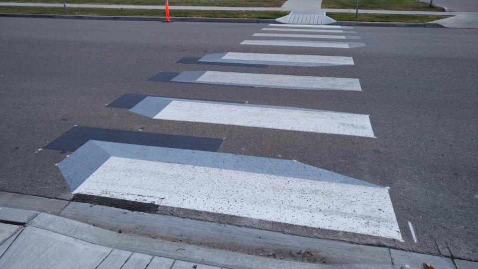 3D crosswalk in Beaumont