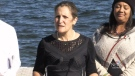 Chrystia Freeland talks climate in Barrie