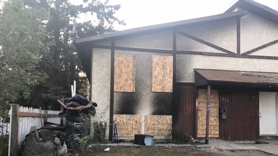 No one was hurt in Monday's fire at a fourplex in the 1800 block of Avenue D North. (Saron Fanel/CTV Saskatoon)