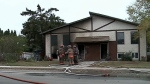 More details about home that caught fire