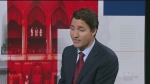 Liberal Leader Justin Trudeau answers questions during an interview with CTV's Lisa LaFlamme.