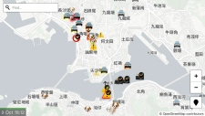 A display of the app 'HKmap.live'