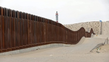 A section of border wall
