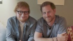 Prince Harry and Ed Sheeran have teamed up in a video to raise awareness for World Mental Health Day -- with a light-hearted jibe at their own plight as Britain's most famous redheads. (Instagram sussexroyal)