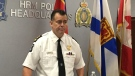 Halifax Regional Police Chief Dan Kinsella addresses reporters at police headquarters on Thursday Oct. 10, 2109. (THE CANADIAN PRESS/Keith Doucette)