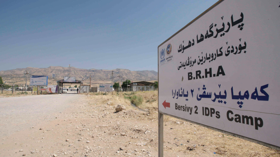 An internally displaced person (IDP) camp in Northern Iraq is home to 9,000 Yazidis.