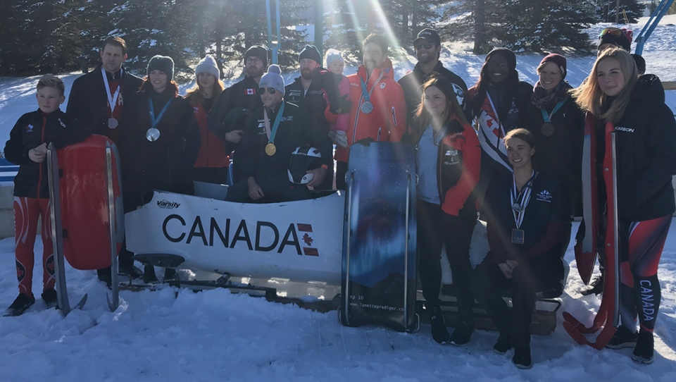Sliding athletes, including several Olympians, gathered at WinSport on October 10, 2019 to voice the need for a track in Calgary