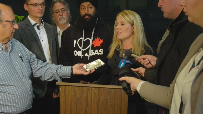 Calgary Nose Hill candidate Michelle Rempel was among a group of Conservatives who responded to the city's YYC Matters survey Thursday at city hall.