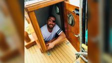 Cody Van't Hullenaar aboard his boat, the Svale, in Deep Cove. Van't Hullenaar wears an eye patch because he lost his eye in 1997. (Photo: Submitted)