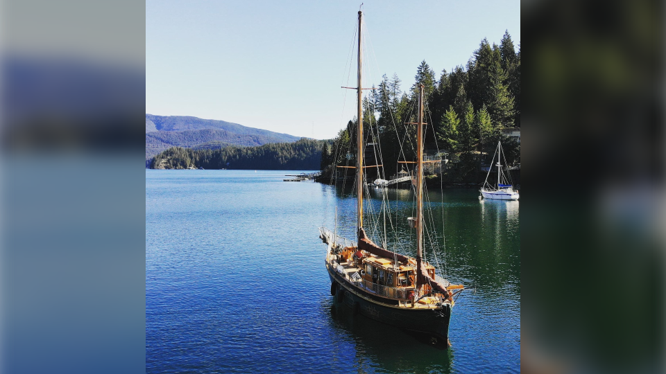 Cody Van't Hullenaar's boat, the Svale, in Deep Cove. (Photo submitted)