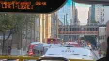 Replacement buses clog downtown streets