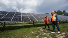The community micro grid uses solar, battery storage and automated control technology to cut down reliance on diesel at KZA-Gull Bay First Nation. Photo: Pierre-Alexandre Carrier