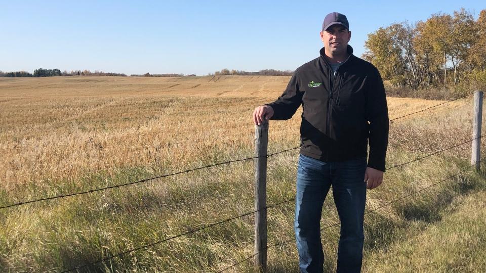 Grant Michelson stands outside on his acreage on the outskirts of Saskatoon. (Joseph Bernacki/CTV Saskatoon)