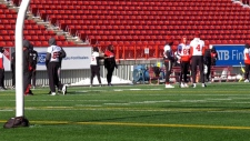 Stampeder overcomes some obstacles to play