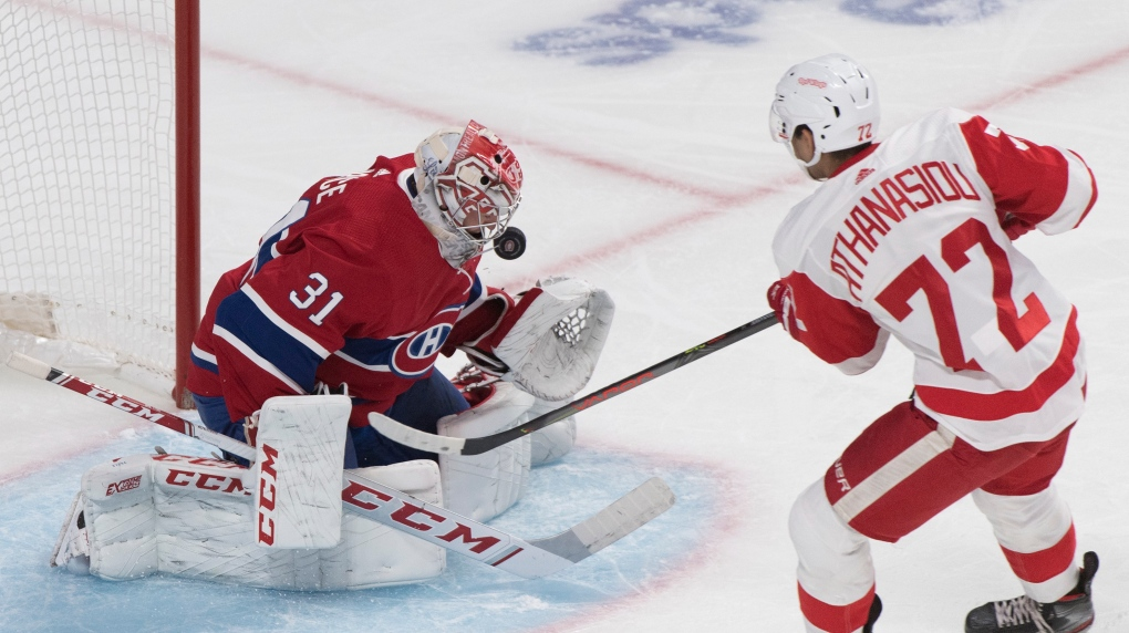 Montreal Canadiens lose 4-2 to the Red Wings