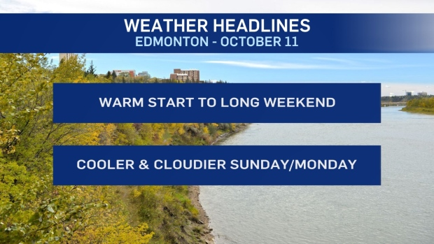 Warm & dry start to Thanksgiving weekend: This is your Edmonton forecast