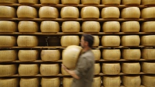 Parmigiano Reggiano Parmesan cheese wheels