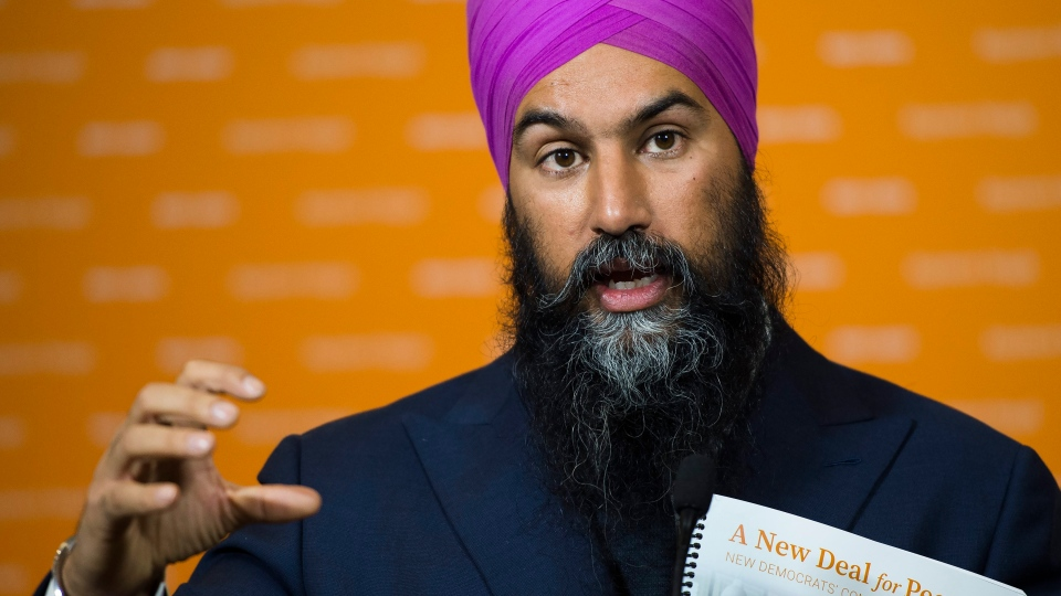 NDP leader Jagmeet Singh answers question