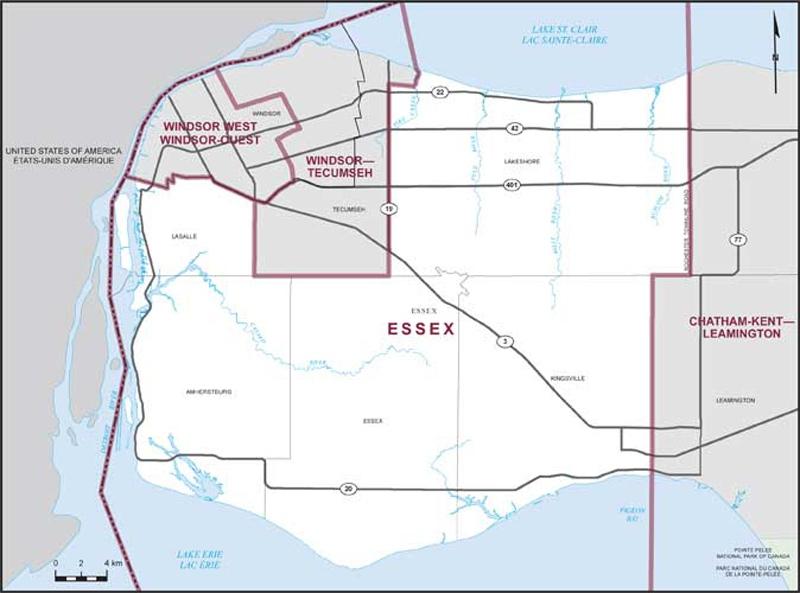 Essex riding (Courtesy Elections Canada)