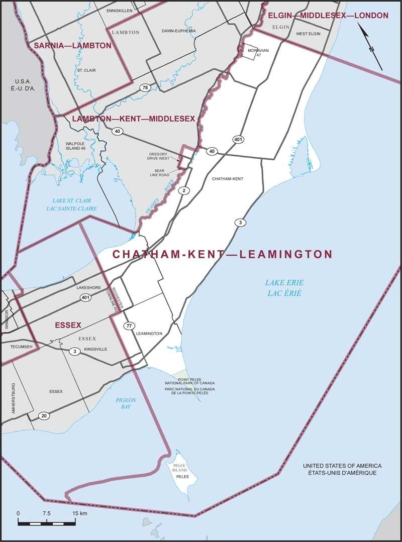 Chatham-Kent-Leamington (Courtesy Elections Canada)