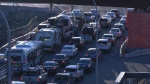 Commuters travel through the McKenzie interchange on Oct. 11, 2019. (CTV News)