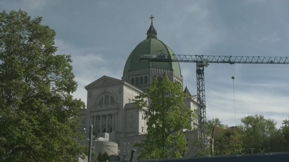 Renovations on St. Joseph's Oratory began in early 2019 and will continue for five years.